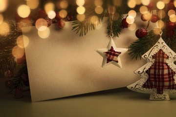 Wall Mural - Christmas evening decoration