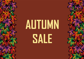 秋のイメージ背景 Autumn Sale|オータムセール|Background of the image of autumn