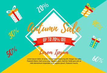Autumn SALE RETAIL TEMPLATE, promotion, advertising
