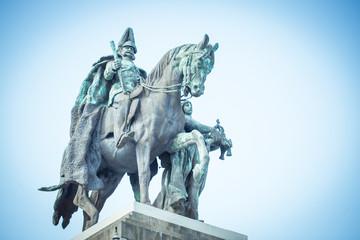 Deutsches Eck Koblenz: Statue
