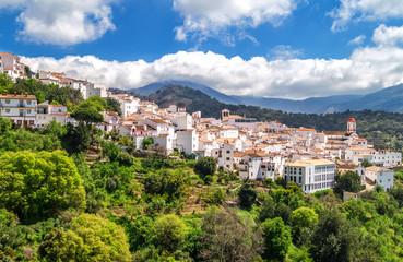 Andalusian white village pueblo blanco Genalguacil, Andalusia, Spain
