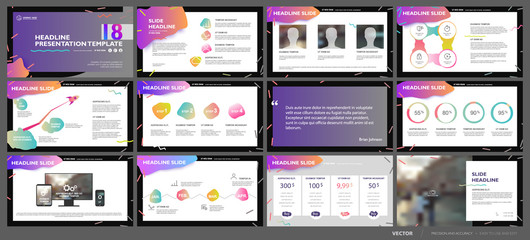Presentation templates elements on a white background. Vector infographics. Use in Presentation, flyer and leaflet, corporate report, marketing, advertising, annual report, banner.