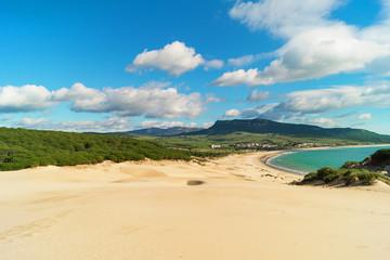 Sand dune of Bolonia beach, Andalucia, Spain