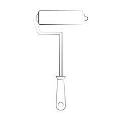 paint roller tool icon image vector illustration design