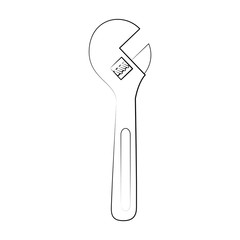 wrench tool icon image vector illustration design