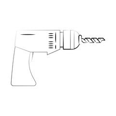 electric drill tool icon image vector illustration design