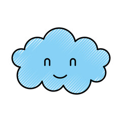 cartoon cute cloud baby shower image vector illustration