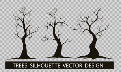 Engraved tree. Vector illustration of a fruit  in vintage engraving, tree on white background,Vector trees in silhouettes.Create many more trees with leaves and bare trees on the bottom,Green Oak