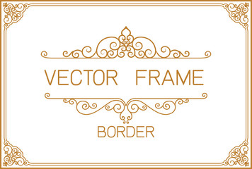 Wall Mural - Gold border design, frame photo template, certificate template with luxury and modern pattern,diploma,Vector illustration