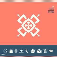 Geometric oriental pattern. Logo. Element for your design