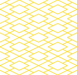Interesting seamless golden geometric pattern tile