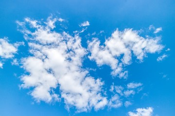 Bright beautiful blue sky with clouds.