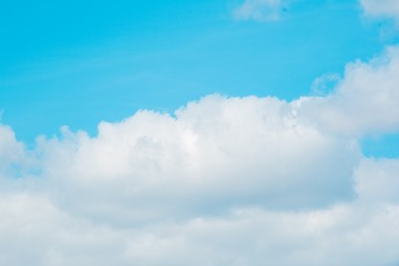 Clear blue sky. Weather and cloud.