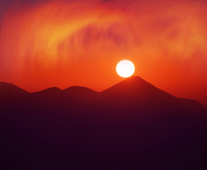 Wall Mural - Goverla at sunset of the day