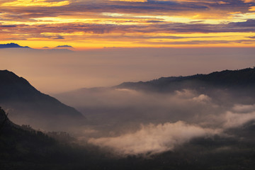 Sunrise over Mount. Bromo at Bromo tengger semeru national park, East Java, Indonesia