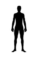 Human Body, Silhouette body of healthy man
