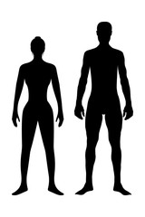 Human Body, Silhouette body of healthy woman and man