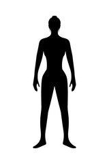 Human Body, Silhouette body of healthy woman