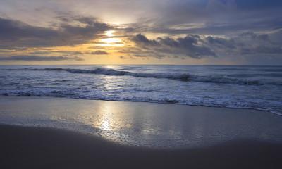 sea on sunrise nice landscape