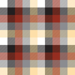 Beige color check plaid seamless pattern