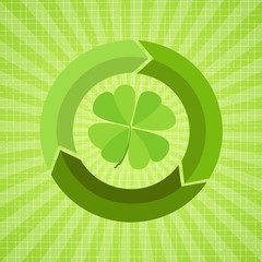 Recycling Clover Leaf Vector