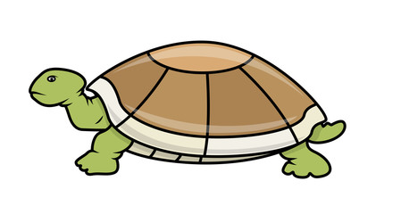 Cartoon Tortoise - handmade clip-art vector