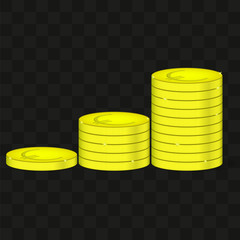 A picture of pennies with a euro sign on a transparent background