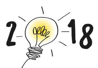 2018 - idée - carte de vœux - créatif - solution - création -imagination