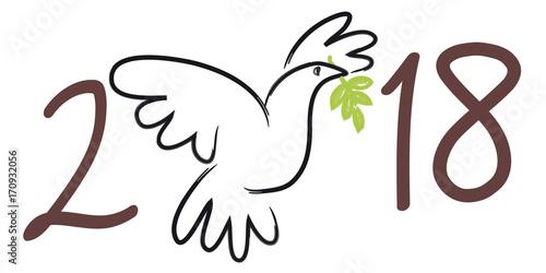 Häufig 2018 - carte de vœux - colombe de la paix - symbole - fraternité  QZ67