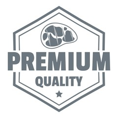 Premium meat quality logo, simple style