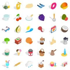 Sweet icons set, isometric style