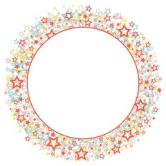 Round frame with stars.