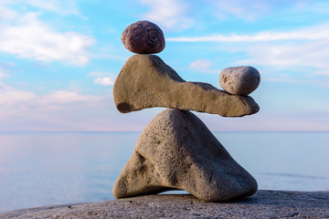 Balancing several stones