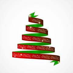 Weihnachten schleife in Baumform