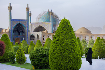 morning time view of Nash-e Jahan square, Esfahan, Iran