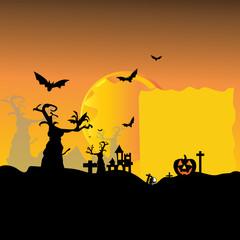 Halloween Photo Frame Ghost Castle