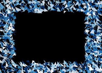 Generative random triangle shape abstract frame background