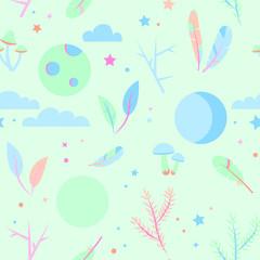 Seamless pajama pattern pastel colors