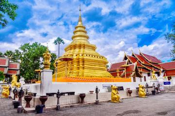 Pagoda at Phra that si chomtong worawihan temple.