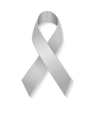 Grey ribbon as symbol of borderline personality disorder