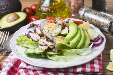 Mixed chef's salad.Mixed chef's salad