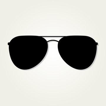 Aviator Sunglasses icon isolated on white background.