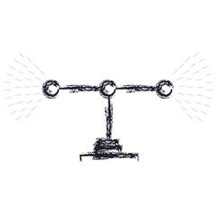 transmission antenna icon in monochrome blurred silhouette vector illustration