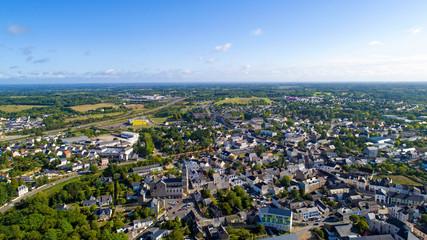 Photo aérienne de la ville de Savenay, en Loire Atlantique