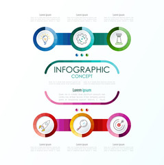 Vector infographic template. Business concept with options.