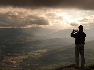 Fotografiando un paisaje increible