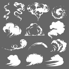Garden Poster Smoke Cartoon smoke set