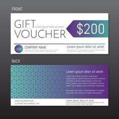 Gift Voucher Vector background