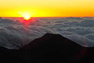 Hawaii Maui Haleakala volcano crater