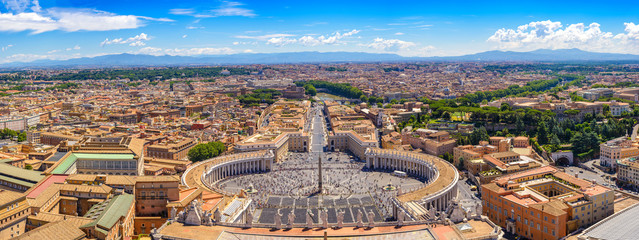 Wall Murals Rome Rome and Vatican panorama city skyline, Vatican, Rome, Italy